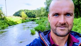 Me next to the River Perry in Shropshire
