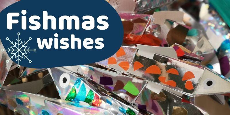 Decorated festive fish
