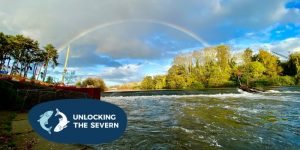 Rainbow over river severn